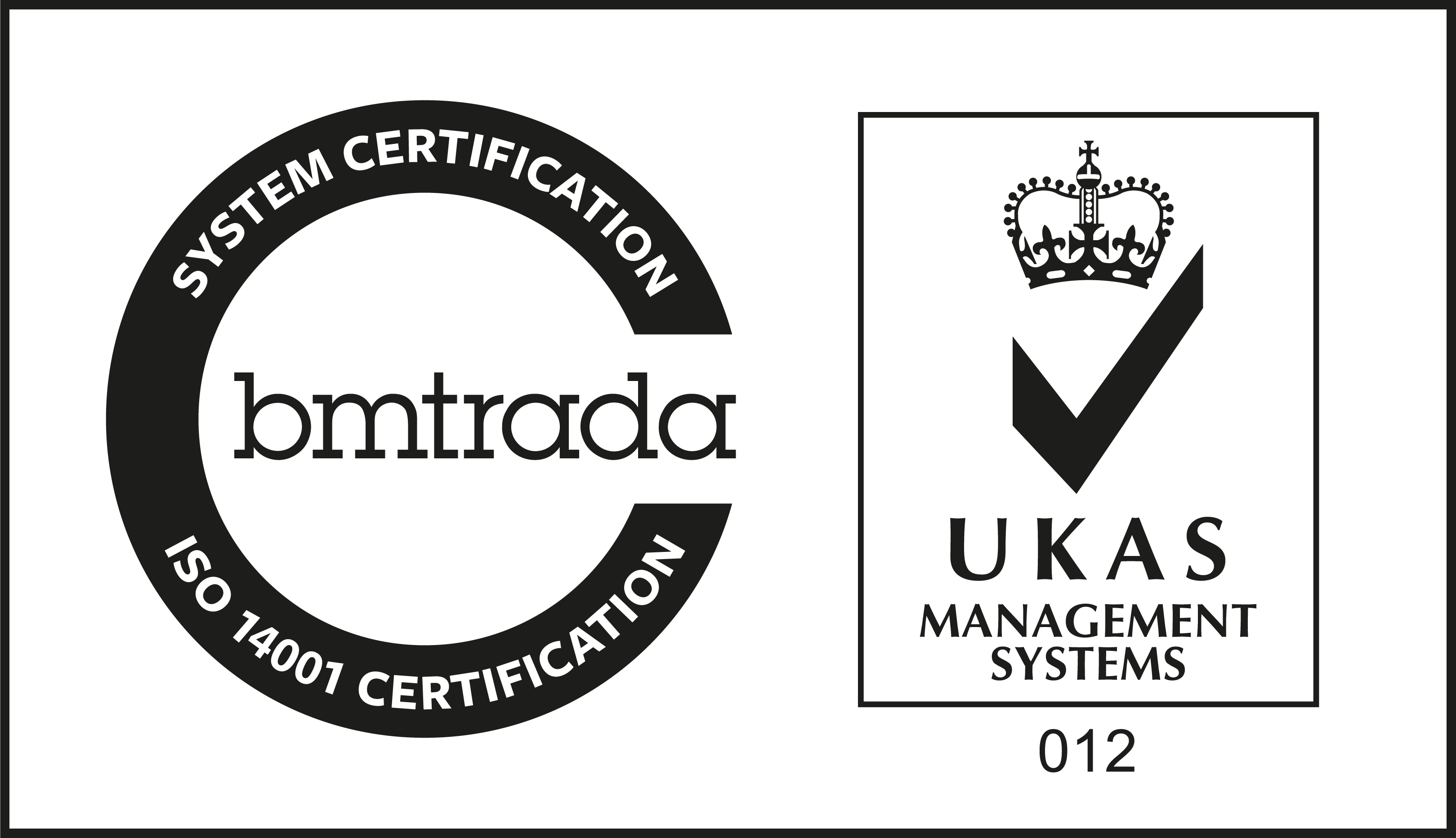 SYSTEM CERTIFICATION bmtrada ISO 14001 CERTIFICATION UKAS MANAGEMENT SYSTEMS 012